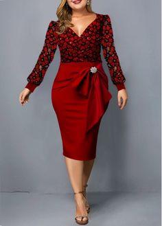 Cheap plus size dresses Plus size dresses online for sale Plus Size Cocktail Dresses, Plus Size Dresses, Plus Size Lace Dress, Trendy Dresses, Panel Dress, Patchwork Dress, Elegant Outfit, Women's Fashion Dresses, Fashion Clothes