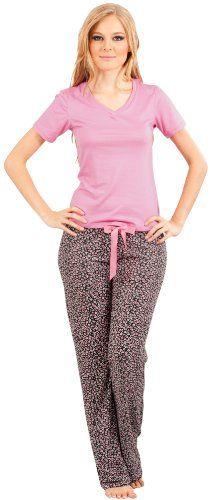 2a1643441 Adriana Arango Women s Trendy Pajama Set T-Shirt Floral Pants