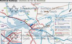 Montreal, Quebec - Railway Map - 2012 - Railway Association of Canada