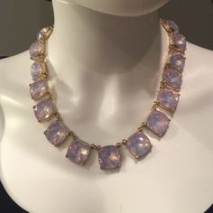 """Faceted glass necklace Beautiful shimmering pink faceted glass jewel necklace.  Length is 18"""" + 3"""" extension Lewboutiquetwo Jewelry Necklaces"""