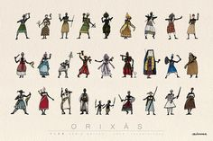 ORIXAS by Caco Bressane, via Flickr