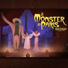 2012: Monster In Paris 8th birthday. Natalie had a fantastic Monster in Paris themed birthday party with her cousins over the weekend. This is the invitation I pieced together for the event. She's a little spoiled when it comes to stuff like this. #MonsterInParis #BirthdayInvitation