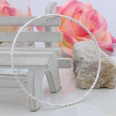 1Pc 925 Sterling Silver Round Bracelet Jewelry Charming Bangle Wristband New