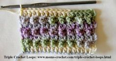 Triple Crochet Loops ads a beautiful texture to any project.