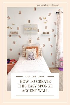 Sharing with you on how to re-create this easy DIY accent wall using sponges! Thats right sponges! Visit www.asimplepieceofme.com to see all the details.