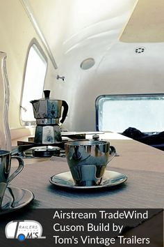 Airstream Custom Build Espresso Time by Tom's Vintage Trailers GmbH Airstream, Glamping, Toms, Vintage Trailers, Espresso, Kitchen Appliances, Restore, Travel Trailers, Wedding