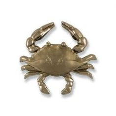 This Brushed Nickel Silver and Polished Chrome Blue Crab Door Knocker was designed by Michael Healy, an accomplished Rhode Island artisan.The mirrored finish of polished nickel silver is achieved through varying degrees of sanding and buffing.
