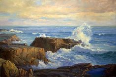 Onward to the Shore by Michael Severin Oil ~ 24 inches x 36 Inches