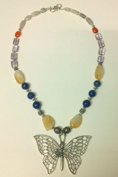 Butterfly tribal necklace