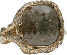 Lucifer Vir Honestus Black Diamond Ring with Pave Detail
