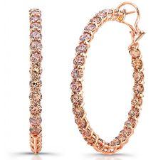 Norman Silverman champagne diamond hoop earrings Diamond Hoop Earrings, Champagne Diamond, Rose Gold Jewelry, Diamond Are A Girls Best Friend, Norman, Gems, Bling, Jewels, Metal