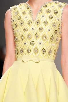 View all the detailed photos of the Georges Hobeika haute couture spring 2015 showing at Paris fashion week. Read the article to see the full gallery. Haute Couture Style, Couture Mode, Couture Details, Fashion Details, Couture Fashion, Runway Fashion, Womens Fashion, Fashion Design, Paris Fashion