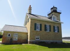 """Tours of the lighthouse are offered three times per a.—from May 15 through mid-October and in the winter by appointment There are also """"haunted lighthouse tours"""" on Halloween. Lake Huron, Local Attractions, Being In The World, Lake Superior, Lake Michigan, Lighthouses, Oceans, Rivers, October"""