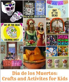 Day of the Dead Activities and Crafts for Kids. So many cute ideas....