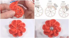 Beautiful 3D Flower Crochet Tutorial