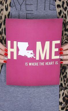 Named by Art state silhouette print… show off your state love and pride with this 8×10 print! Louisiana Love! $18