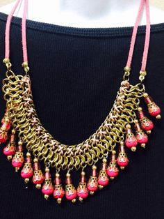 Fashion Necklace Jewelry Neon Punk Rivet Studs Spike by Artsiart, $14.99