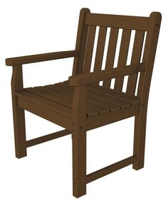 Polywood TGB24TE Traditional Garden Arm Chair in Teak