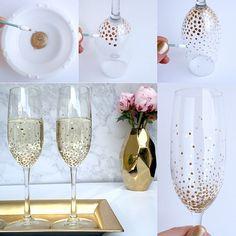 ¡Nos ha encantado este #DIY de @lulus ! ¡Personaliza tu cristalería para darle un toque único y especial estas fiestas! ^_^