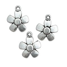 Silvertone Daisy Charms - OrientalTrading.com If we stick with all silver, these could work for the daisy event.