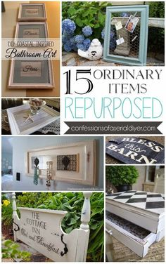 Best DIY Projects : 15 Ordinary Items Repurposed