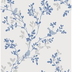"""Brewster Home Fashions For Your Bath III 33' x 20.5"""" Chirp Bird and Tree Wallpaper Roll Color:"""