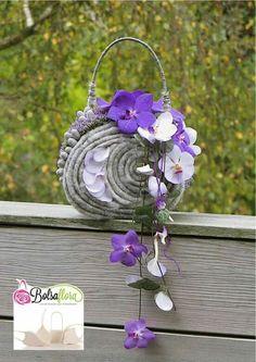 Lila Orchideen