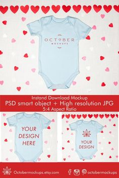 Kids Valentine's Day Mockup Baby Boy Mock up image 1