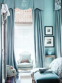 chic turquoise blue room