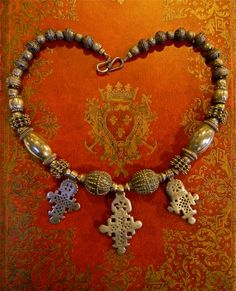 VINTAGE SILVER ETHIOPIAN Cross Necklace by Luxethnik on Etsy, $975.00. SOLD