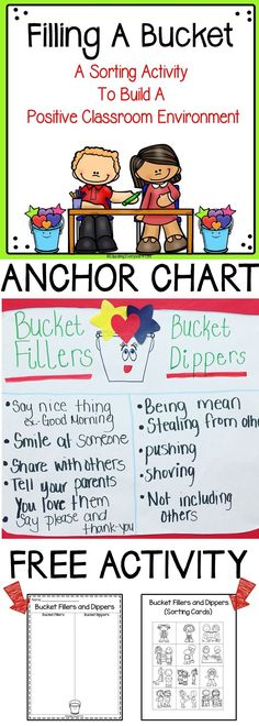 Have you Filled A Bucket Today? This is a FREE resource to use as a supplemental…