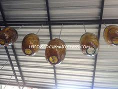 Hanging Lamp Amber