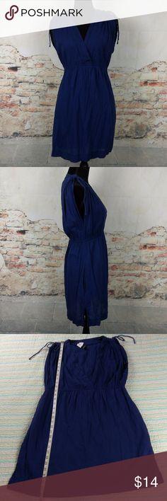 Ralph Lauren L Navy Blue 100% Cotton Dress POCKETS Ralph Lauren Sz L Navy Blue 100% Cotton Sleeveless Sundress Dress w/ POCKETS Ralph Lauren Dresses