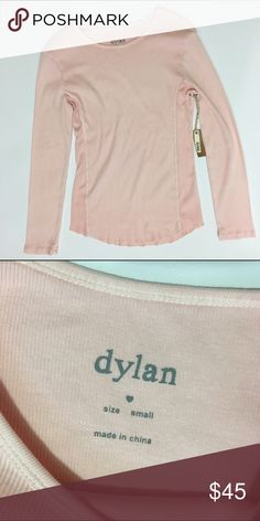 NWOT - True Grit long sleeve tee NWOT - Dylan by True Grit cotton tee. Color is a light peach/pink. So soft!! True Grit Tops Tees - Long Sleeve