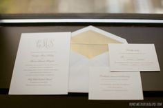 Black, gold and monograms... The classic wedding trifecta.