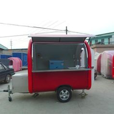 red color mobile hot dog food truck with generator box come on my friend to design your own food trailer horecamarktplein horeca meubilair te koop