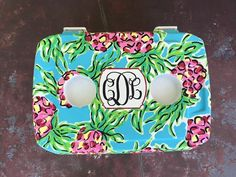 From the cooler connection. Not my photo. Lilly monogram cooler