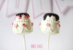 two tiered wedding cake - cake pops tutorial by @niner bakes