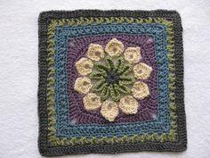 #crochet - Ravelry: Simple 10-Petal Afghan Square pattern by Joyce Lewis