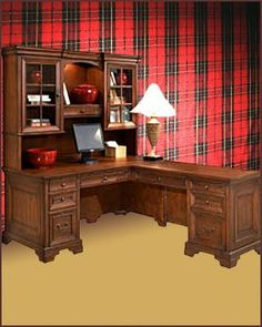 """Aspen Computer Desk, Return Desk & Hutch AS40-307-308-317 by Aspenhome. $3286.00. Richmond offers a timeless, traditional look in a warm cherry finish that easily fits within any style of home. This group includes thoughtfully designed features to help you work more easily and efficiently. Discover these features as you design your own work solution. Includes: 1 x 66"""" Computer Desk - AS-i40-307 1 x 48"""" Return Desk - AS-i40-308 1 x 66"""" Credenza Hutch - AS-i40-317 Dimensions: Compu..."""