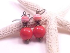 Red earrings  Casual earrings  Everyday by TheBeadedCottage, $10.00