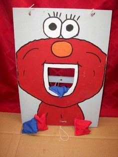 Elmo Bean Toss-Party Game