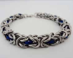 captured bead chainmaille bracelet - Google Search
