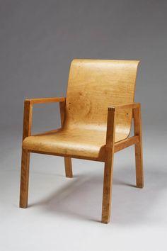 Chair designed by Alvar Aalto for Artek, Finland. 1950's image 2