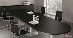 Kea Besprechungstisch - Kea Konferenztisch mit hochwertigen Metallsäulen in Aluminium silber Moderne Büroraumgestaltung mit Design-Besucherstühlen für optimalen Sitzkomfort