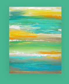 Acrylic Abstract Painting Original Art Titled: On a Clear Day 24x30x1.5 by Ora Birenbaum via Etsy
