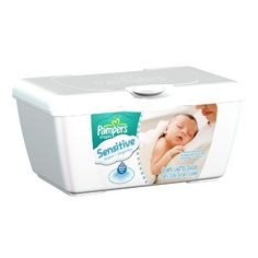 Pampers Sensitive Baby Wipes Tub 64ct.