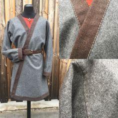 Klappenmantel aus 100% Schurwolle  Viking, Wikinger, Mittelalter