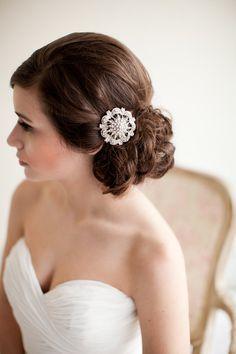 Silver Rhinestone Bridal Comb Crystal von MelindaRoseDesign auf Etsy, $50.00
