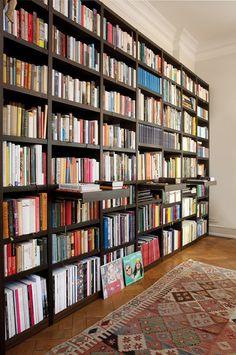 Ideas Home Library Ideas Book Lovers Bookshelf Wall Library Bookshelves, Bookshelf Design, Built In Bookcase, Bookcases, Bookshelf Wall, Library Room, Dream Library, Home Library Design, House Design